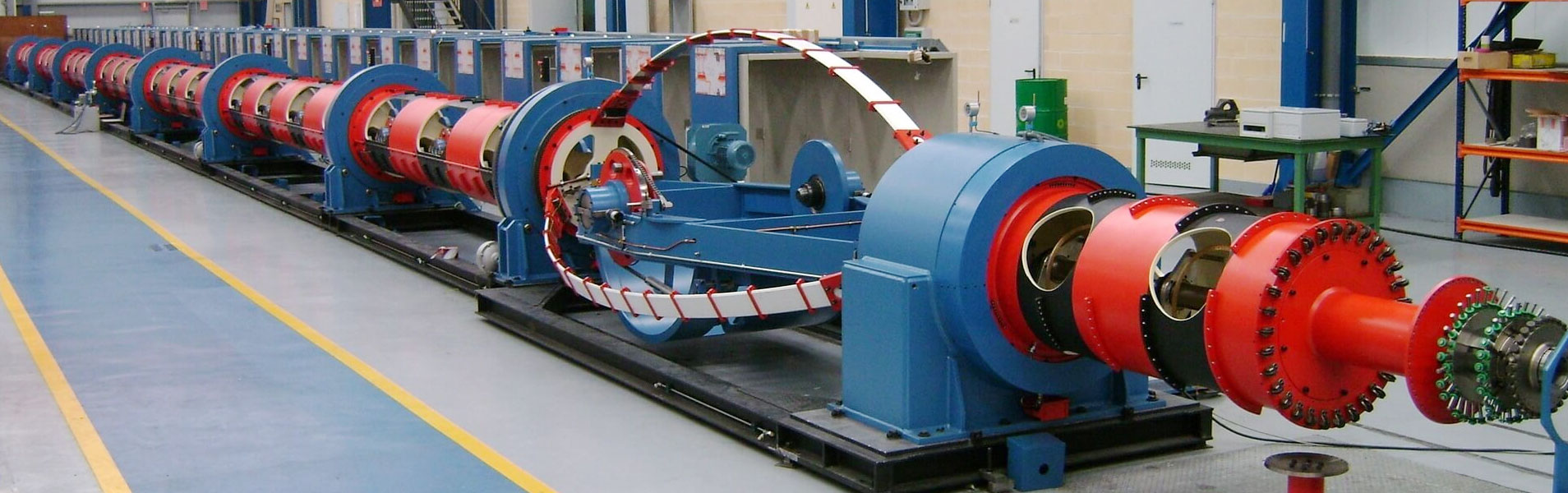 Tubular stranders machine
